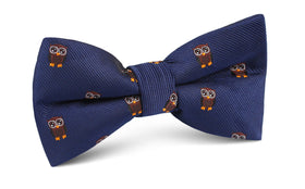 Brown Horned Owl Bow Tie