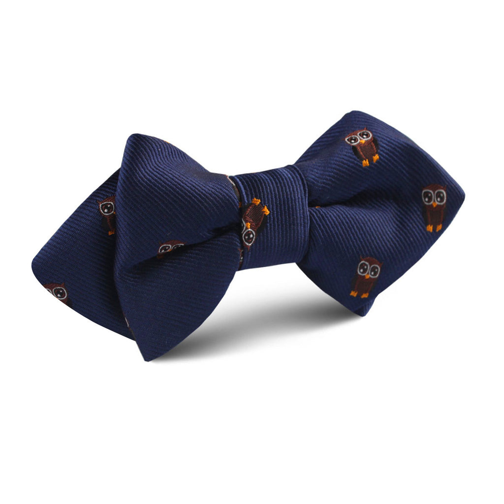 Brown Horned Owl Diamond Bow Tie