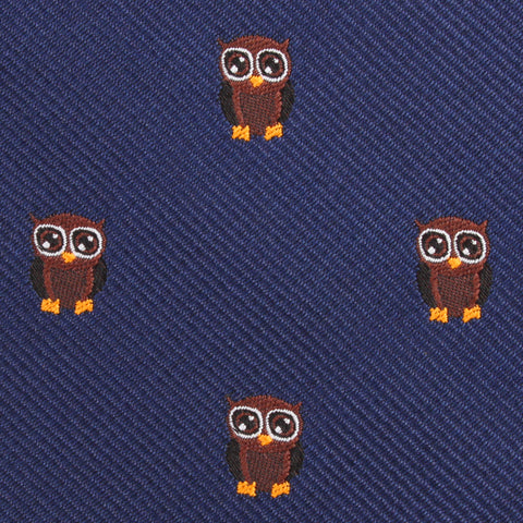 Brown Horned Owl Kids Bow Tie