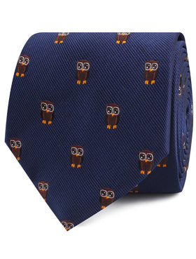 Brown Horned Owl Tie