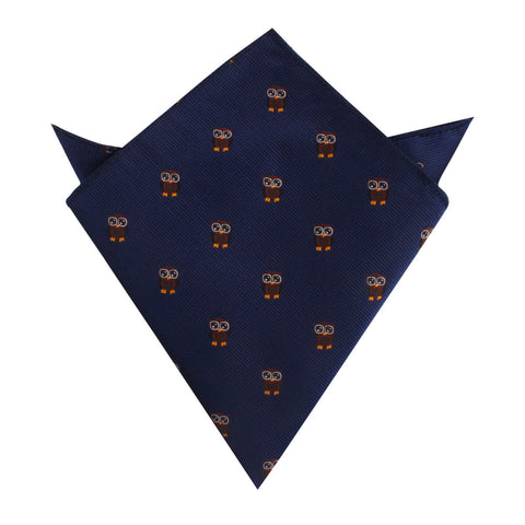 Brown Horned Owl Pocket Square