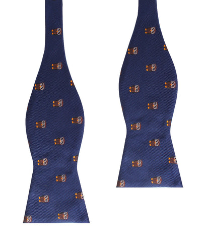 Brown Horned Owl Self Bow Tie