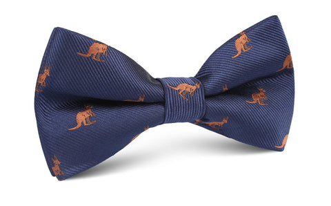 Brown Kangaroo Bow Tie
