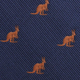 Brown Kangaroo Fabric Self Bowtie