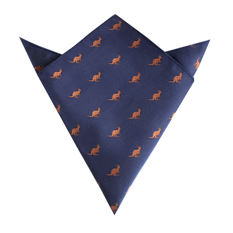 Brown Kangaroo Pocket Square