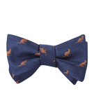 Brown Kangaroo Self Tied Bowtie