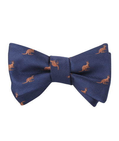 Brown Kangaroo Self Bow Tie