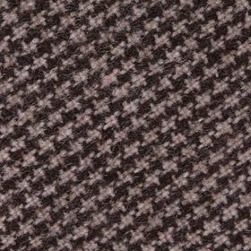 Brown Karakul Houndstooth Wool Kids Diamond Bow Tie