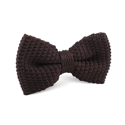 Brown Knitted Bow Tie