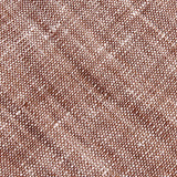 Brown Linen Chambray Fabric Pocket Square L038