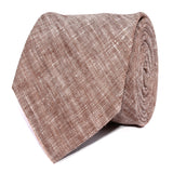 Brown Linen Chambray Necktie Front