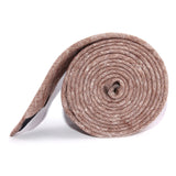 Brown Linen Chambray Necktie Side roll
