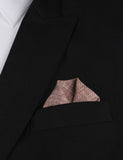 Brown Linen Chambray Winged Puff Pocket Square Fold