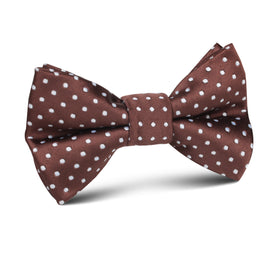 Brown Mini Polka Dots Kids Bow Tie