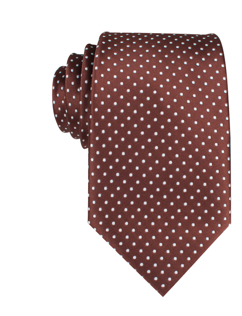 Brown Mini Polka Dots Necktie