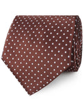 Brown Mini Polka Dots Neckties