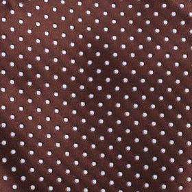 Brown Mini Polka Dots Pocket Square