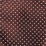 Brown Mini Polka Dots Self Bow Tie Fabric