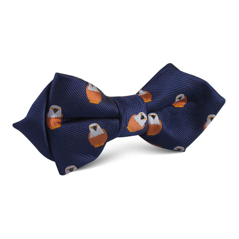 Brown Pigeon Bird Diamond Bow Tie