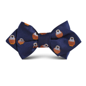 Brown Pigeon Bird Kids Diamond Bow Tie