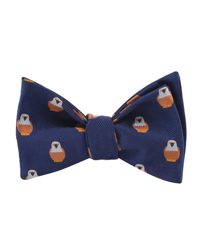 Brown Pigeon Bird Self Bow Tie