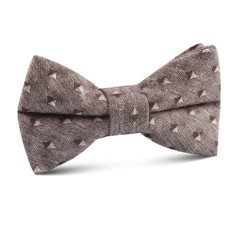 Brown Totem Inception Linen Kids Bow Tie
