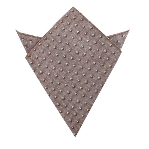 Brown Totem Inception Linen Pocket Square