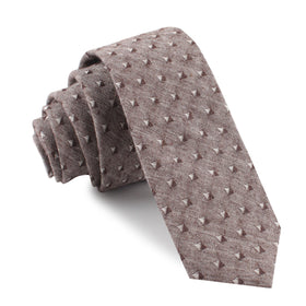 Brown Totem Inception Linen Skinny Tie