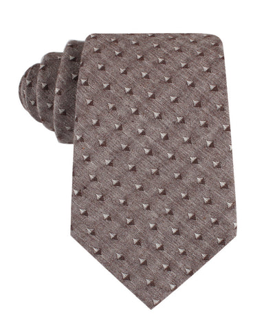 Brown Totem Inception Linen Tie