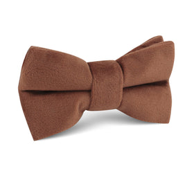 Brown Velvet Kids Bow Tie