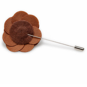 Brown Velvet Lapel Flower
