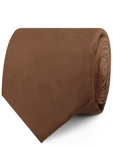 Brown Velvet Necktie