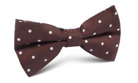 Brown with White Polka Dots Bow Tie