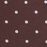 Brown with White Polka Dots Fabric Kids Bow Tie M122
