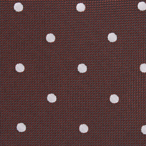 Brown with White Polka Dots Pocket Square