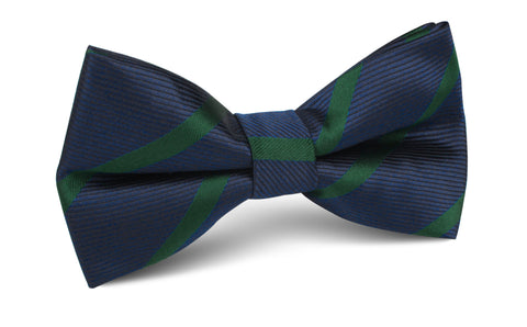 Brunswick Green Striped Bow Tie