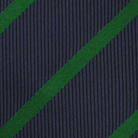 Brunswick Green Striped Kids Bow Tie