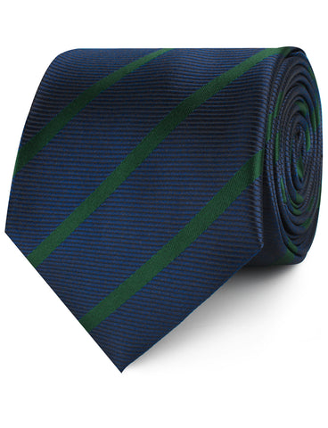 Brunswick Green Striped Necktie