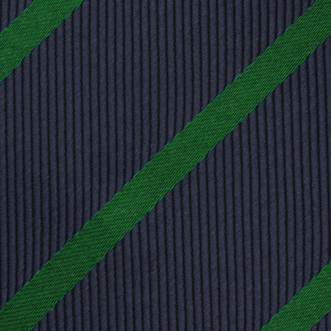 Brunswick Green Striped Pocket Square