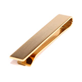 Brushed Gold Square Clasp Tie Bar