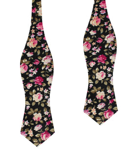 Bucharest Blossom Floral Diamond Self Bow Tie