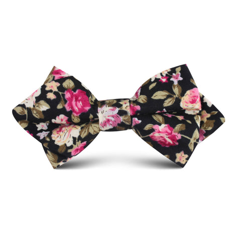Bucharest Blossom Floral Kids Diamond Bow Tie