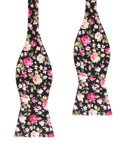 Bucharest Blossom Floral Self Bow Tie