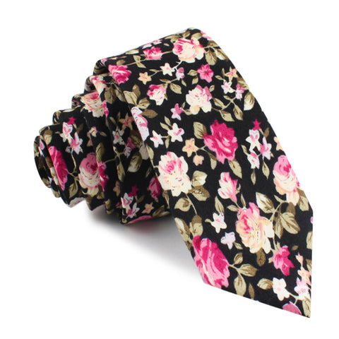 Bucharest Blossom Floral Skinny Tie