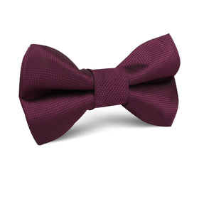 Budapest Burgundy Diamond Kids Bow Tie