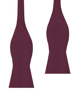 Budapest Burgundy Diamond Self Bow Tie
