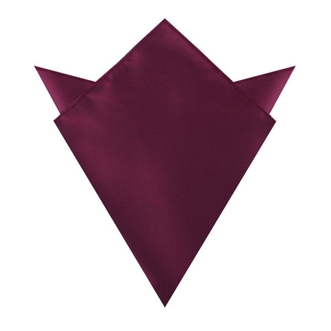 Budapest Burgundy Diamond Pocket Square