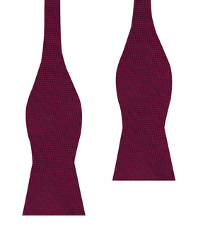 Burgundy Basket Weave Self Bow Tie