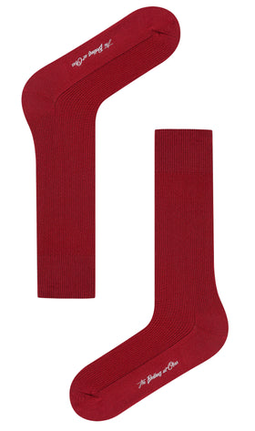Burgundy Textured Socks
