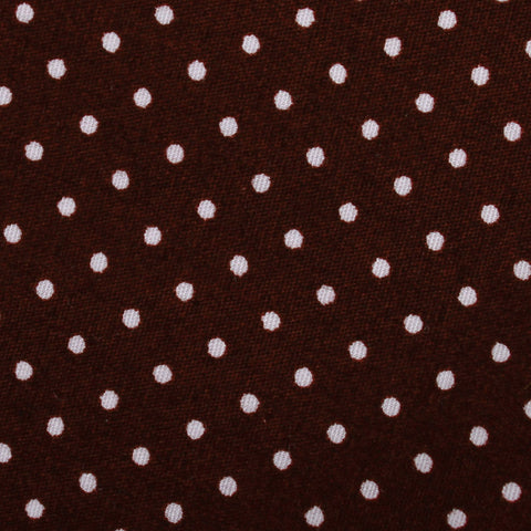 Burgundy Cotton Polkadot Kids Bow Tie